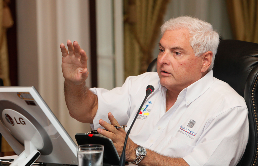 Presidente de Panamá Ricardo Martinelli Berrocal, en Consejo de Gabinete.