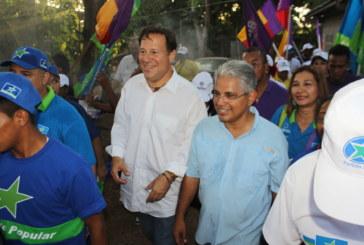 Varela y Blandón recorren sector de Las Paredes en la 24 de Diciembre en Panamá Este