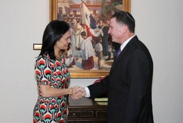Canciller se reúne con Presidente del Parlamento Israelí