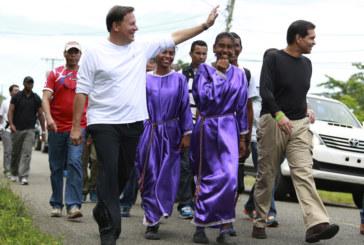 Presidente participa de fiestas religiosas del Cristo Negro de Portobelo