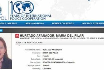 Interpol emite circular roja contra María del Pilar Hurtado