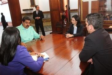 Vicepresidenta de Saint Malo de Alvarado realiza visita oficial al presidente Maduro