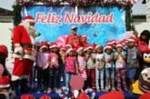 Ministro Alemán y funcionarios de Presidencia comparten con niños en fiesta de Navidad