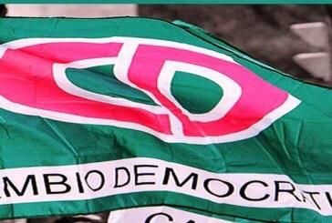 CAMBIO DEMOCRÁTICO NO RECIBIÓ NI RECIBIRÁ DONACIONES PARA CAMPAÑAS ELECTORALES