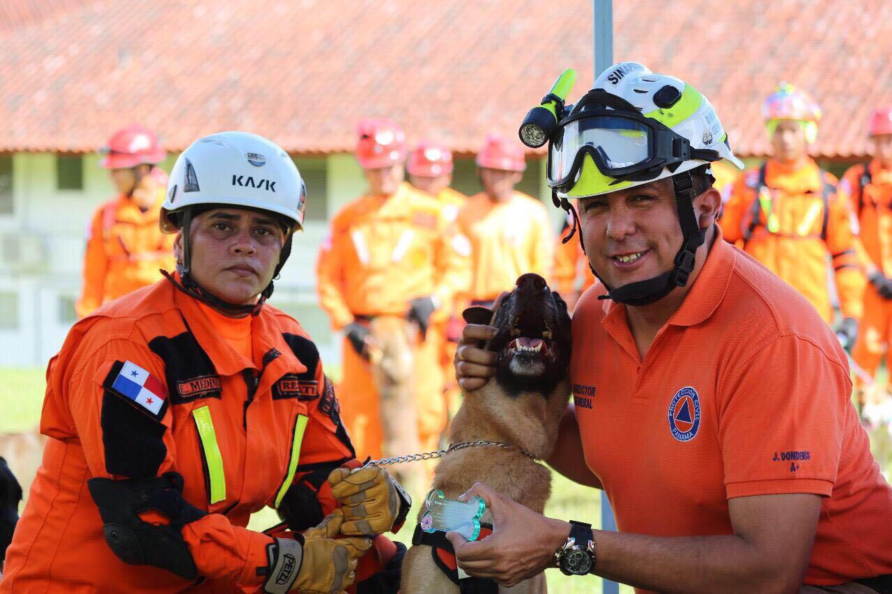 SINAPROC fortalece Unidad de Búsqueda y Rescate Canino