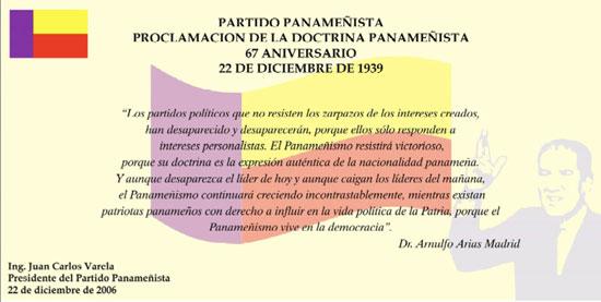 Placa 67 Años Doctrina Panameñista