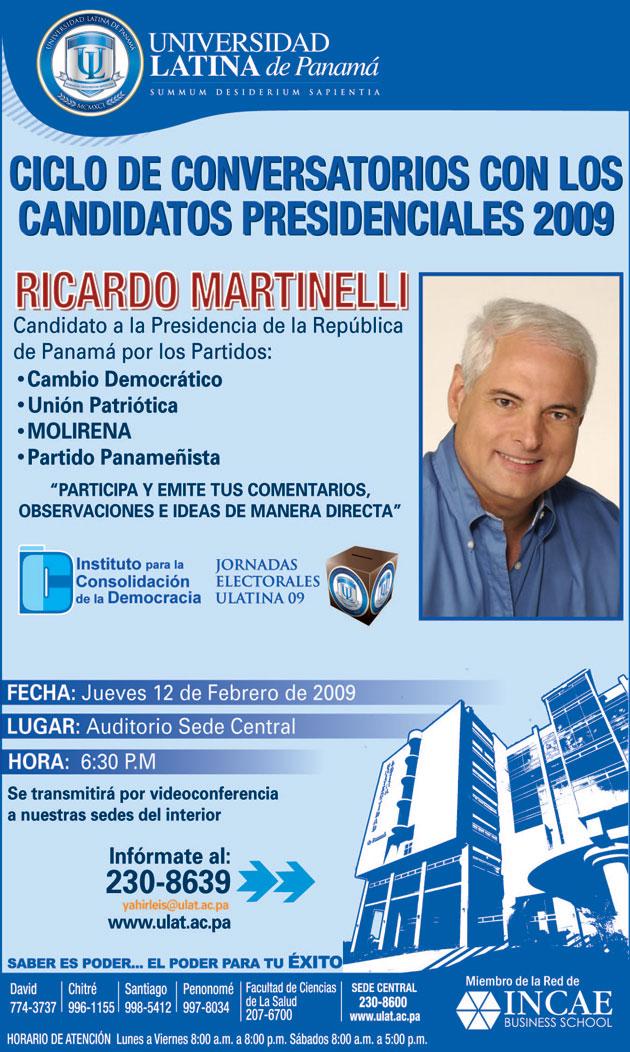 CONVERSATORIO CON RICARDO MARTINELLI - UNIVERSIDAD LATINA