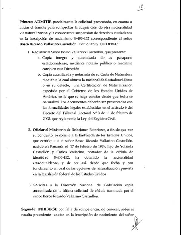 Resolución expedida por la Dirección Nacional de Registro Civil - Bosco Vallarino - Pagina 4