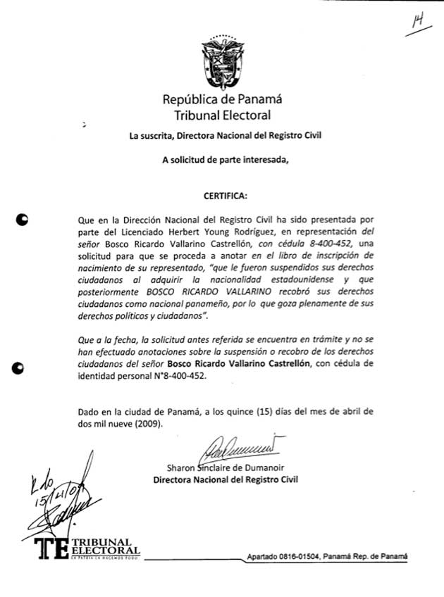 Resolución expedida por la Dirección Nacional de Registro Civil - Bosco Vallarino - Pagina 6