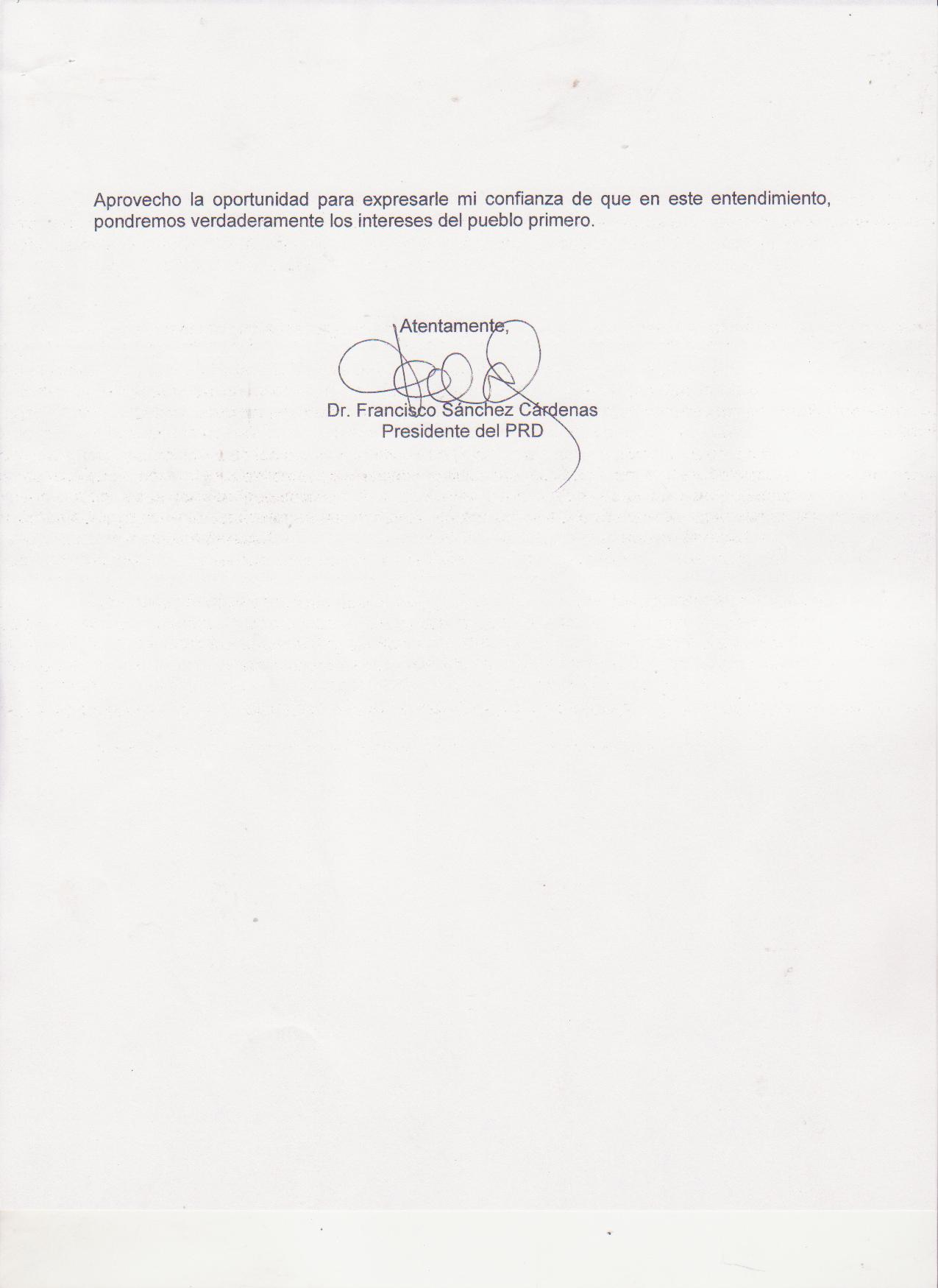 NOTA AL PRESIDENTE RICARDO MARTINELLI 002