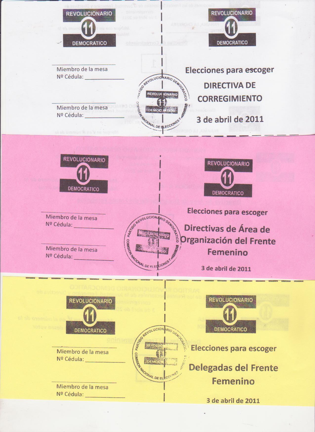 Elecciones del PRD