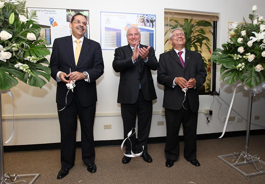 Presidente Ricardo Martinelli inaugura oficinas de Fudespa