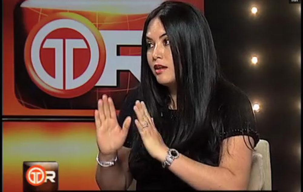 Zulay Rodriguez entrevistada por Alvaro Alvarado en Telemetro Reporta Matutino