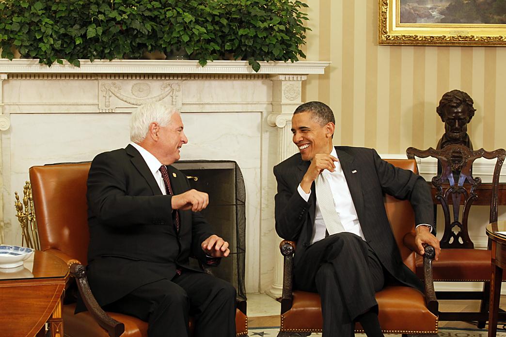 Presidente de Panamá Ricardo Martinelli y el Presidente de los Estados Unidos de América Barack Obama - Tupolitica.com