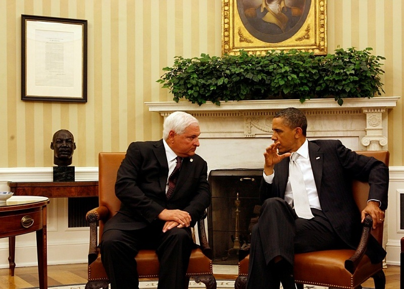 Presidente Ricardo Martinelli y Presidente Barack Obama