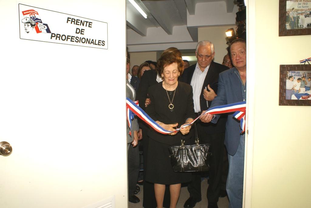 Inauguran salón del Frente de Profesionales Dr. Hugo Torrijos Richa