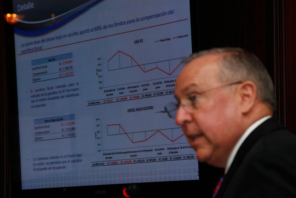 Alberto Vallarino , Ministro de Economía y Finanzas en el Consejo de Gabinete.