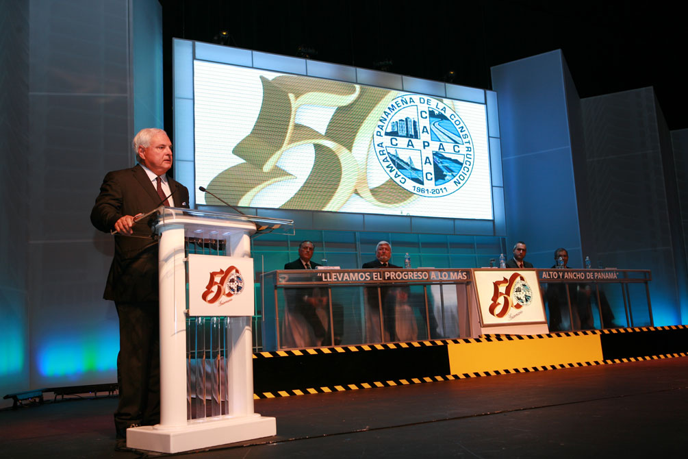 Presidente Martinelli inaugura Capac Expo Hábitat 2011