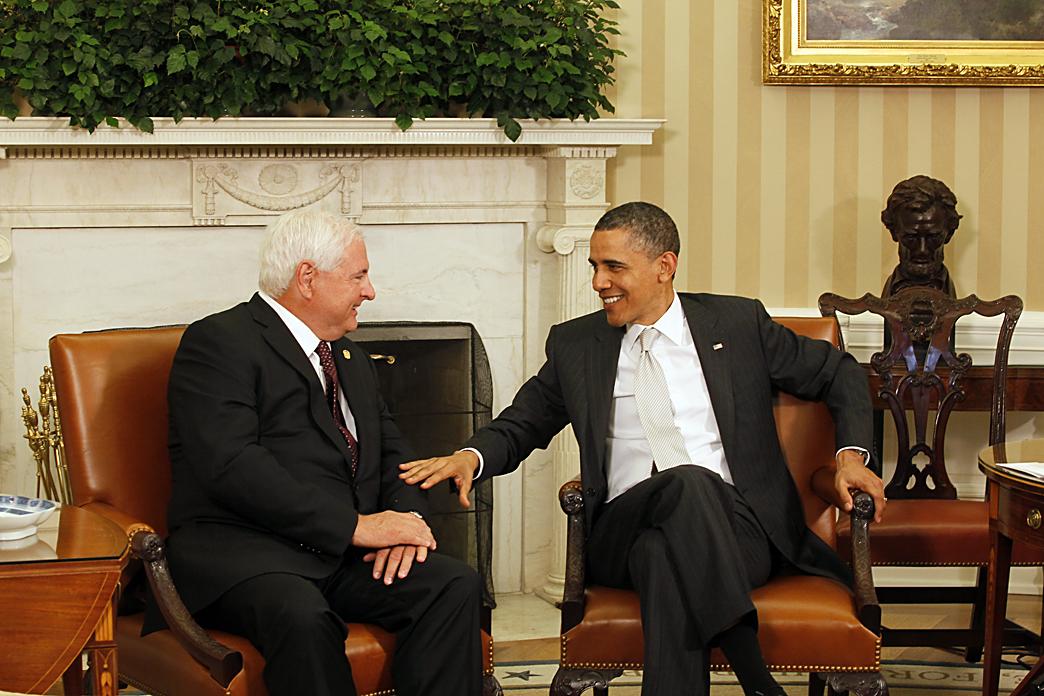 Presidente de Panamá Ricardo Martinelli y Presidente de Estados Unidos Barack Obama