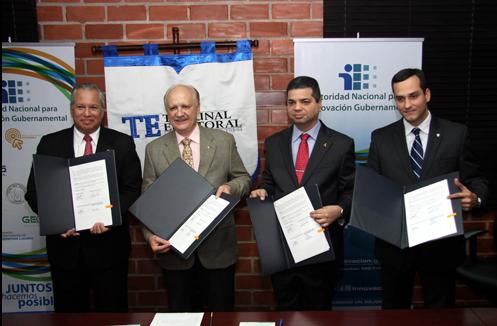 TE participa en firma de acuerdo interinstitucional para facilitar trámites electrónicos gubernamentales