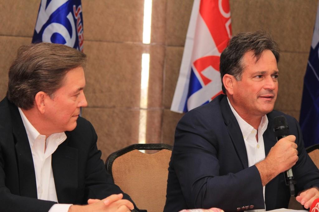 Juan Carlos Navarro y Laurentino Cortizo