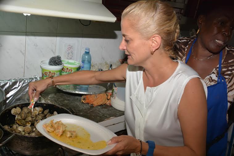 Almuerzo con Cecilia Pescao