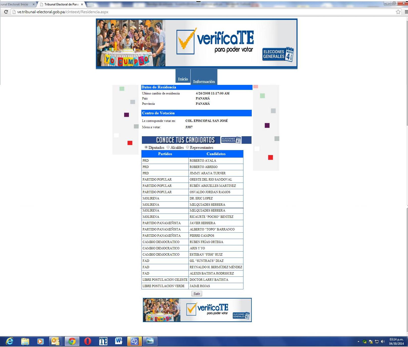 tribunal electoral verificate