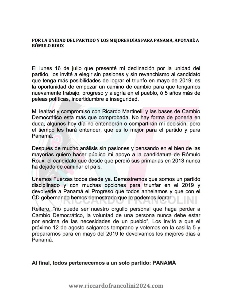 comunicado-francolini-apoya-a-roux-panama-politica