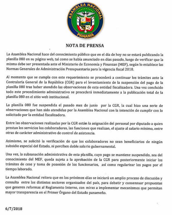 comunicado-no-publicacion-planilla-080-asamblea-nacional-panama-politica