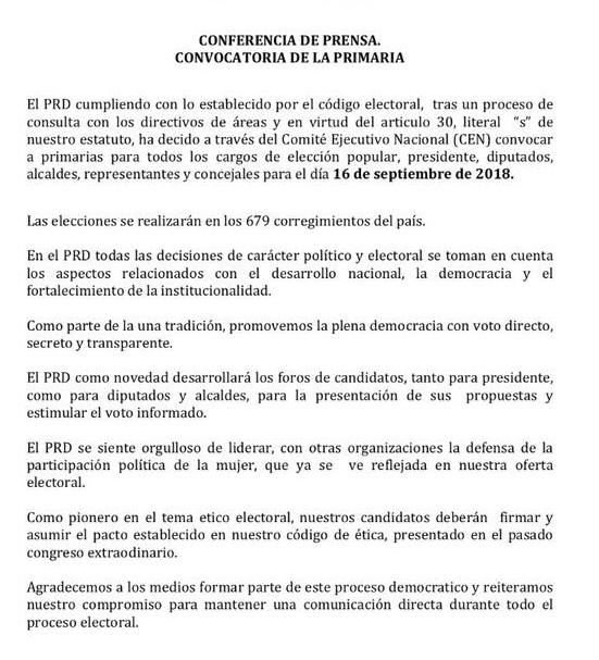 comunicado-prd-panama-politica-elecciones-primarias