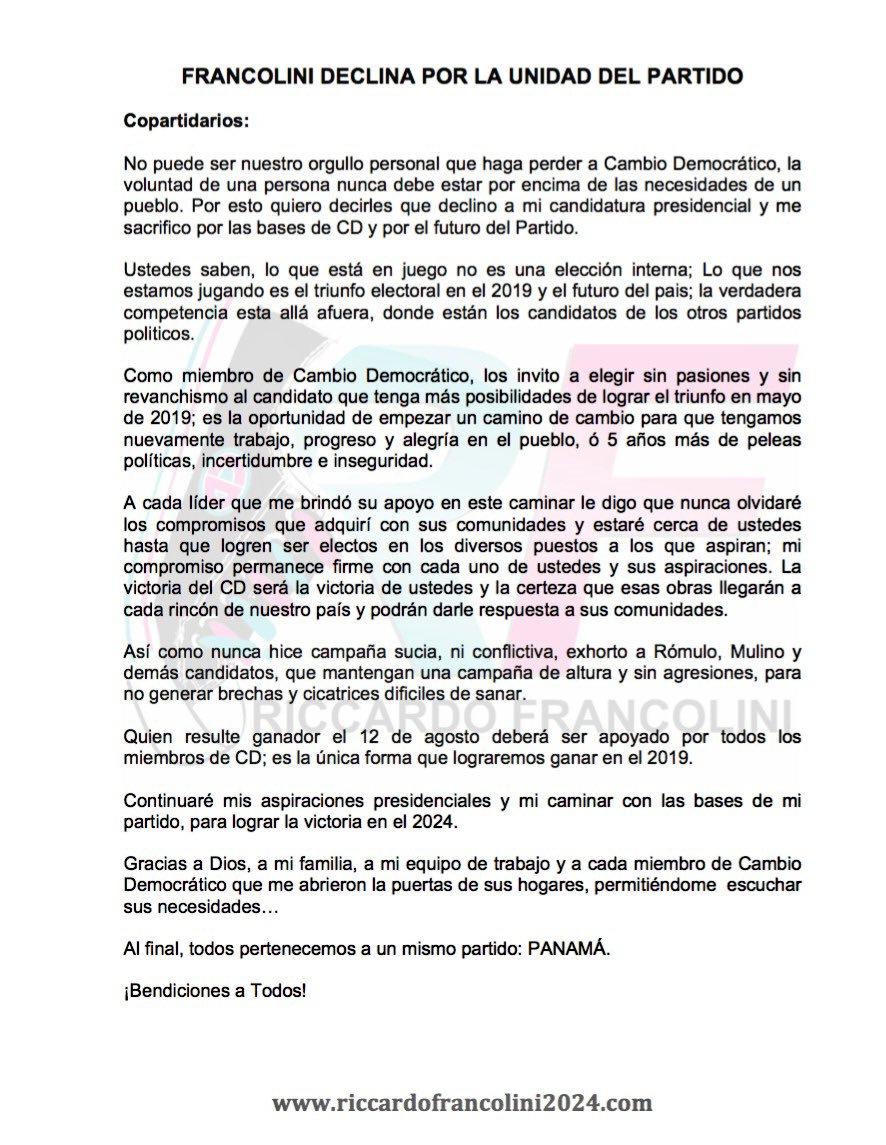 francolini-ricardo-declina-aspiraciones-presidenciales