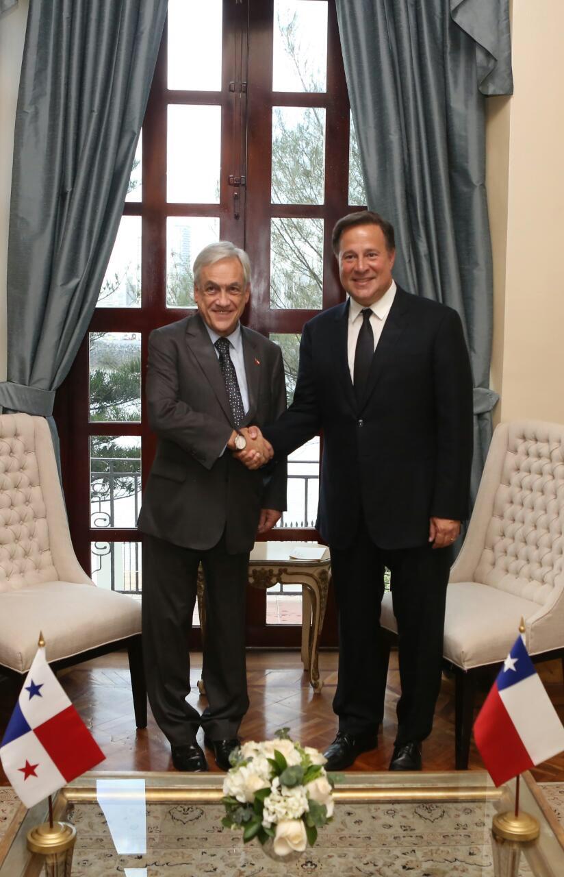 presidente-sebastian-pinera-chile-visita-panama-juan-carlos-varela-politica